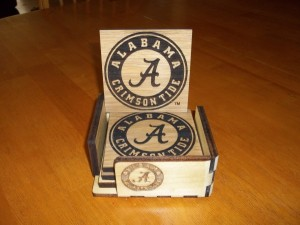 A-4-pack-of-heavy-duty-Laser-Engraved-Alabama-oak-coasters-with-an-attractive-coaster-holder.-Felt-on-bottoms-30.001